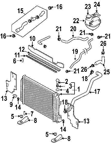 Ford Ranger Radiator Diagram